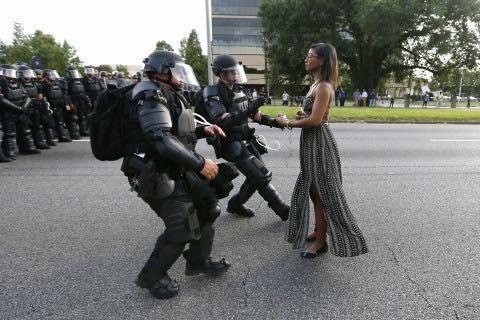 blacklivesmatter protester