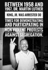 MLK arrested 30 times